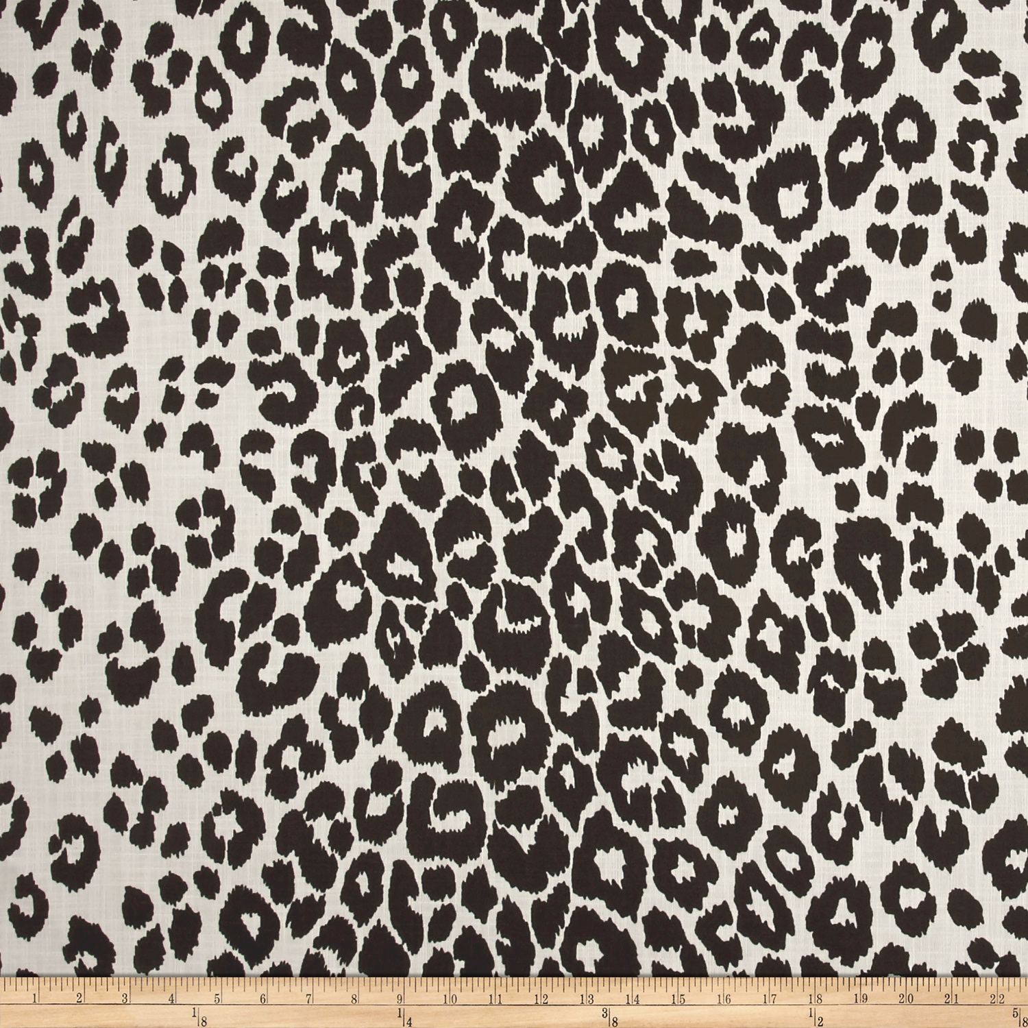 Schumacher Indoor/outdoor Iconic Leopard Black Fabric