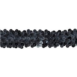 Team Spirit 1.25'' #66 Sequin Trim Gun Metal