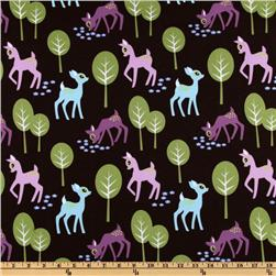 Michael Miller Pet Deer Brown Fabric