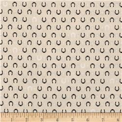 Kaufman Tiny Happy Lucky Horseshoes Ivory
