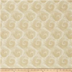 "Breezy 108"" Wide Back Circular Print Beige On Cream"