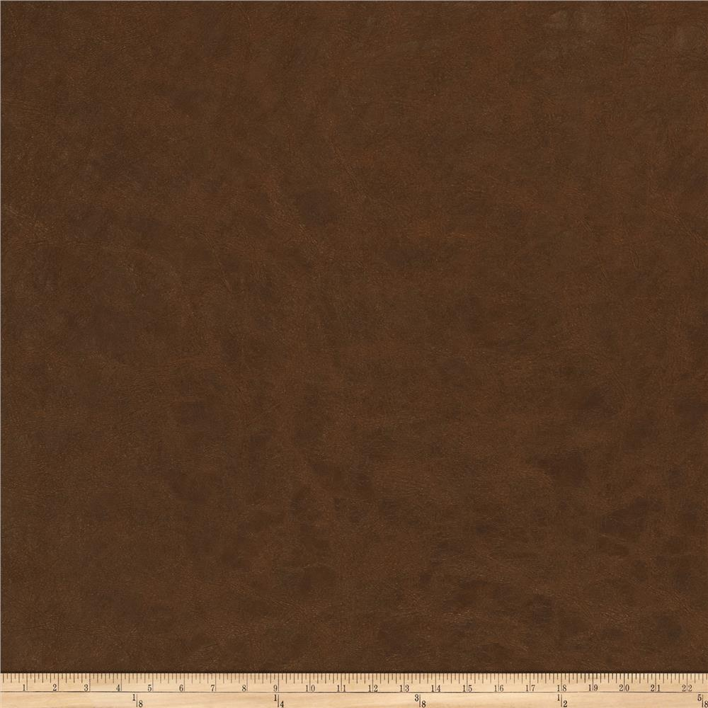 Fabricut Highfield Faux Leather Pecan