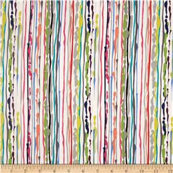 Michael Miller Paint Drop Cloth Stripe Brite