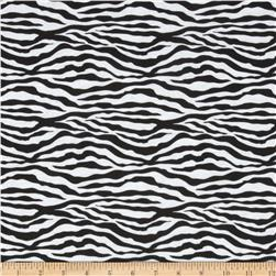 Cotton Blend Jersey Knit Small Zebra Black/White