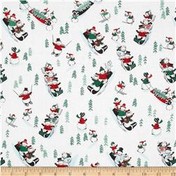 White Christmas Snowmen Multi