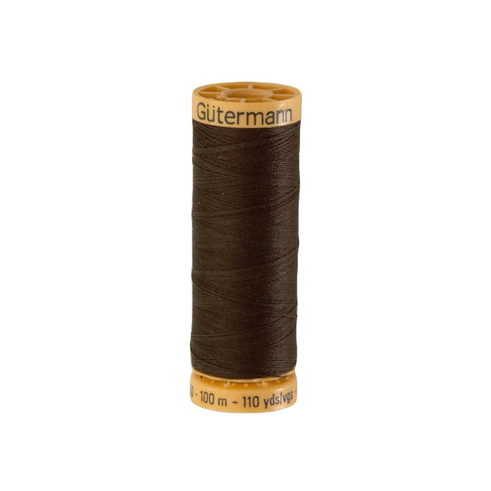 Gutermann Natural Cotton Thread 100m/109yds Dark Brown