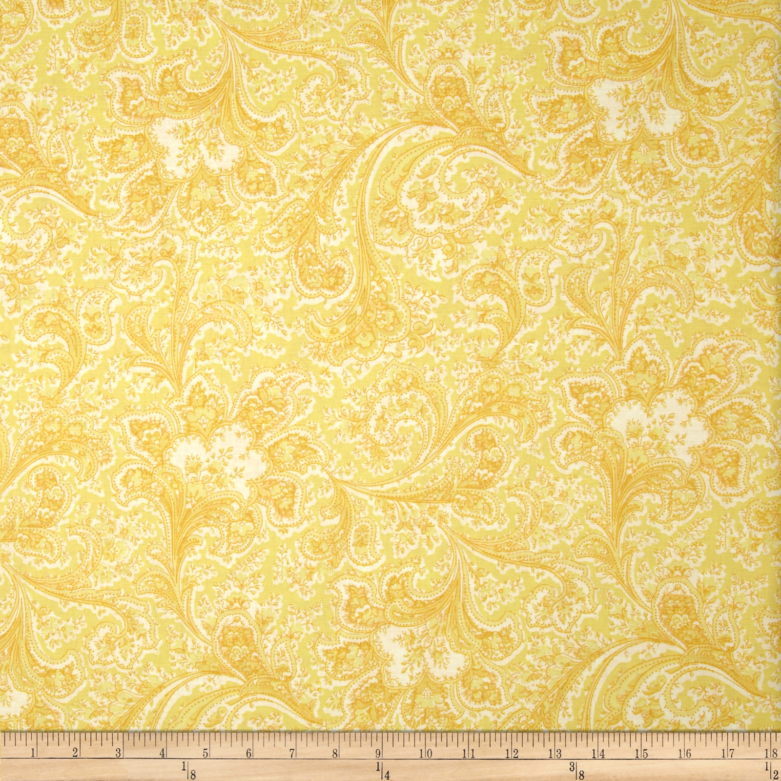 Image of 108'' Wide Quilt Back Rosemont Malabar Butter Fabric