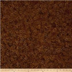 Batavian Batiks Dancing Leaves Dark Tan