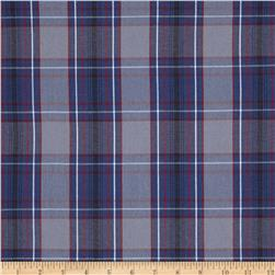 Poly/Cotton Uniform Plaid Blue/Red/Gray