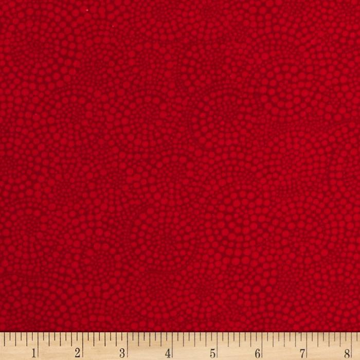 Timeless Treasures Pop Basic Circle Dots Red