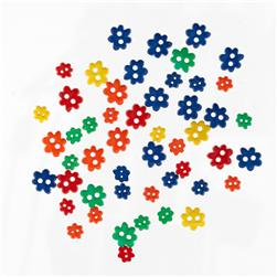 Favorite Findings Sew-on Buttons Mini Flowers Primary