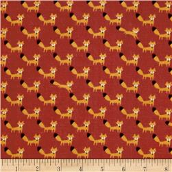 Seven Islands Double Gauze Foxes Red