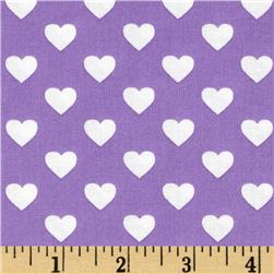 Michael Miller Hearts Purple