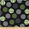 Spotlight Large Patterned Dots Mint/Black