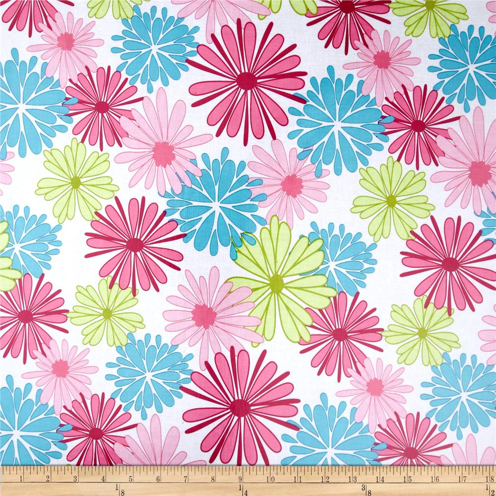 Riley Blake Floriography Laminate Large Floral Pink