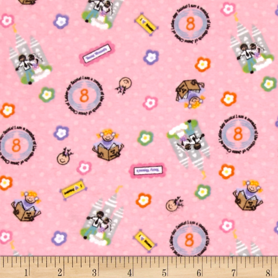 Alpine Flannel A Girls Life Pink Fabric by Christensen in USA