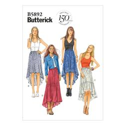 Butterick Misses' Skirt Pattern B5892 Size 0Y0