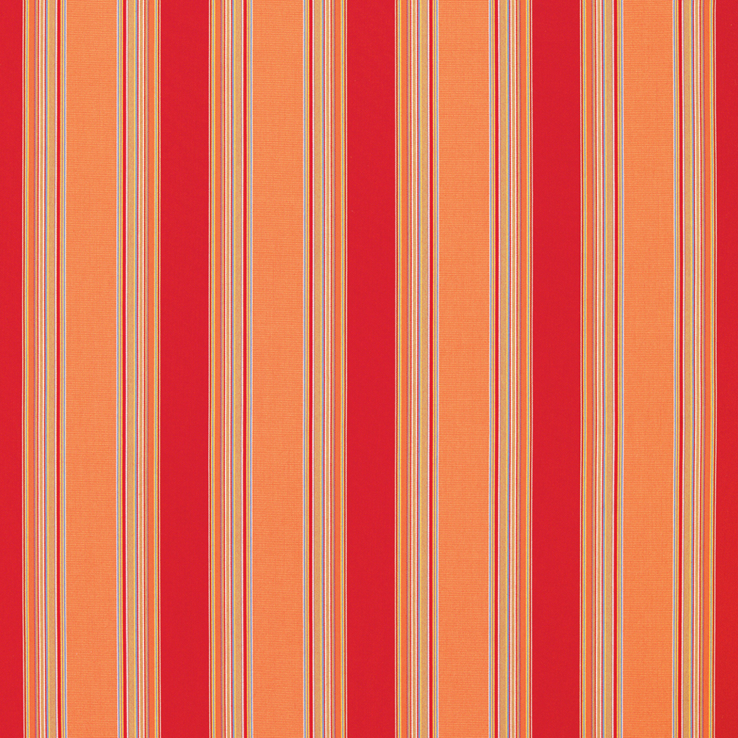 Image of Sunbrella Stripes Bravada Salsa Fabric