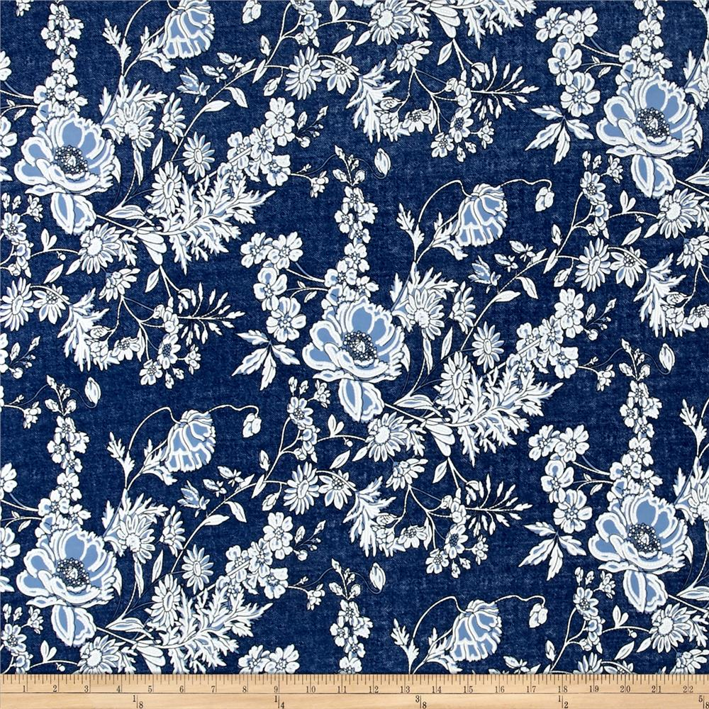 Telio venice stretch ity jersey knit floral print denim for Fabric printing