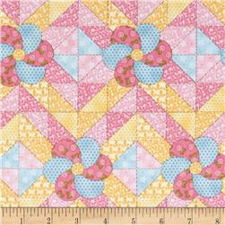 Peaceful Pastimes Quilt Patchwork Pink