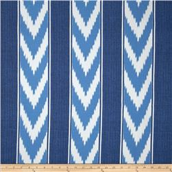 P Kaufmann Indoor/Outdoor Ikat Stripe Cornflower