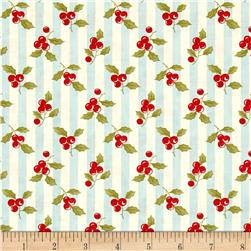 Moda Snowfall Prints Holly Ice