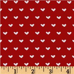 Vintage Valentine Toss Light Red