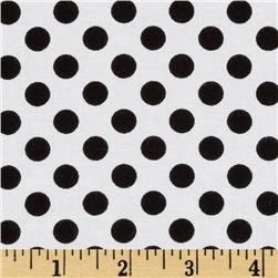 Kaufman Spot On Medium Dot White Fabric