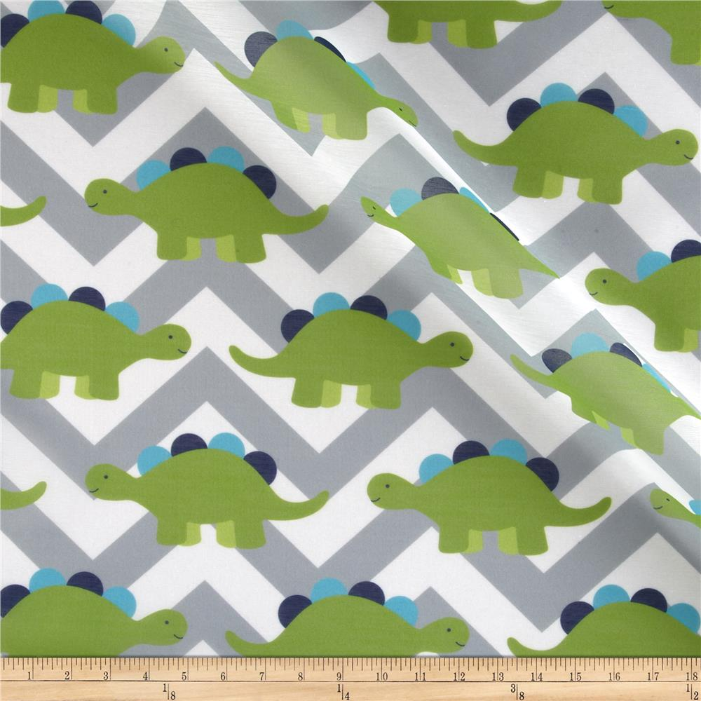 RCA Dinosaur Chevron Sheers Green