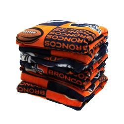 Three Pound NFL Fleece Remnant Bundle Denver Broncos