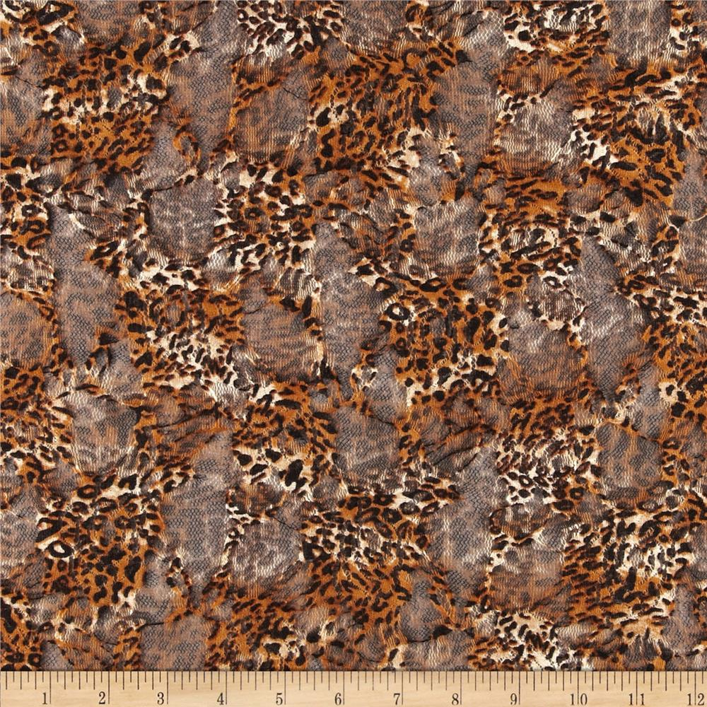 Stretch Safari Lace Rust/Black