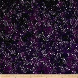 Kaufman Sugar Plum Metallic Twinkle Plum