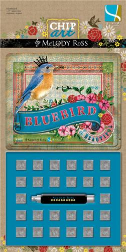 Chip Art By Melody Ross Alphabet Stamp Set Bluebird Uppercase