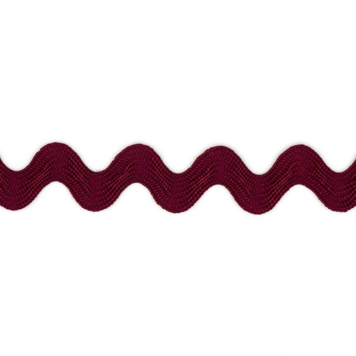 "5/8"" Ric Rac Rayon Medium Trim Burgundy"