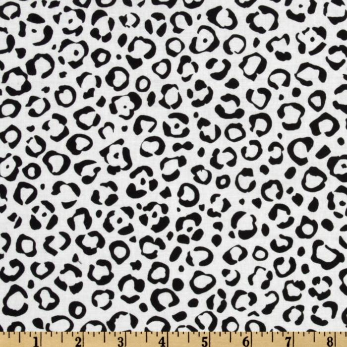 Animal Print Leopard White/Black