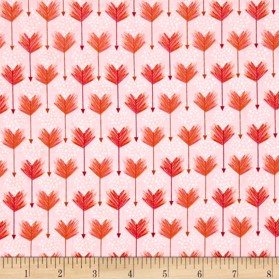 Image of Modern Tyke Arrows Pink Fabric