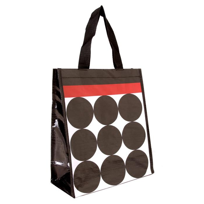 Insta-Totes Shopping Tote Stripes & Dots With Red