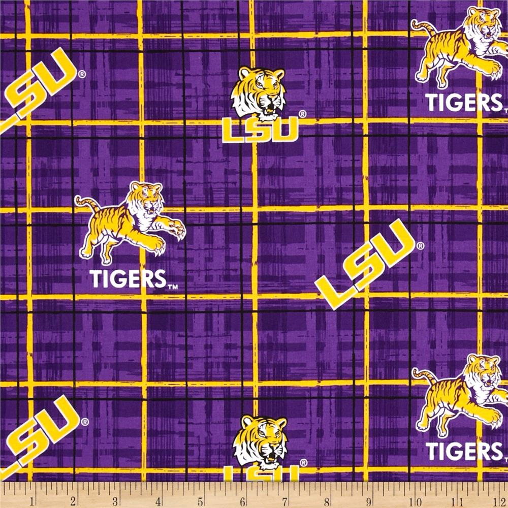 Collegiate Cotton Broadcloth Louisiana State University Purple Fabric By The Yard