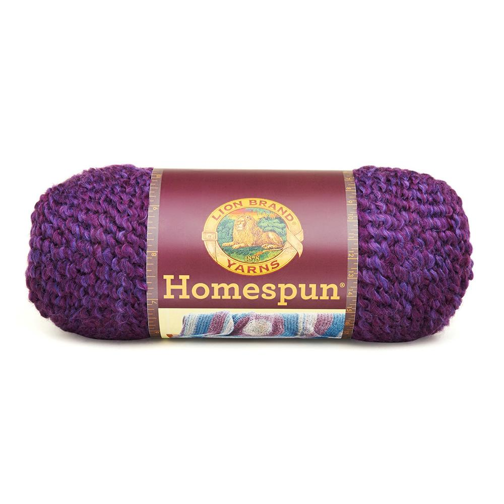 Lion Brand Homespun Yarn (386) Grape
