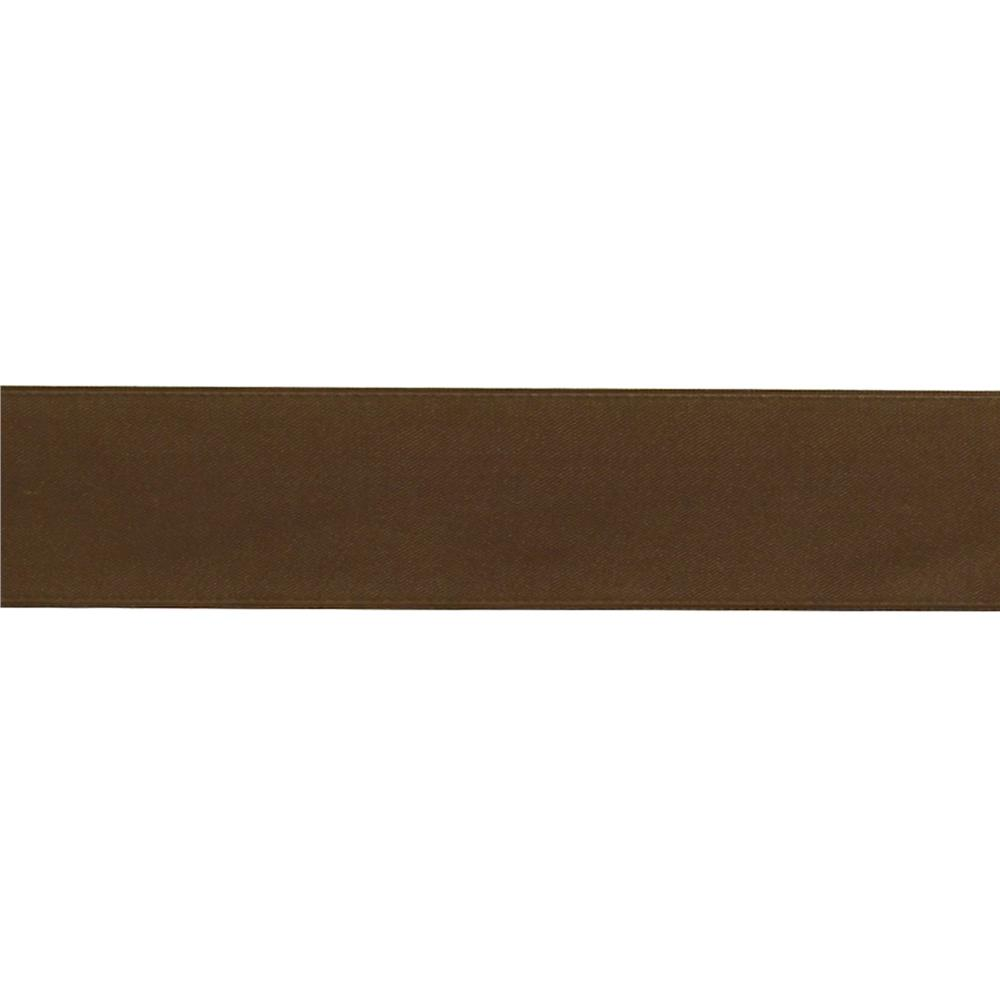 "May Arts 1 1/2""  Double Sided Satin Ribbon Spool Brown"