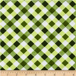 Kanvas Apple Blossom Festival Picnic Plaid Green