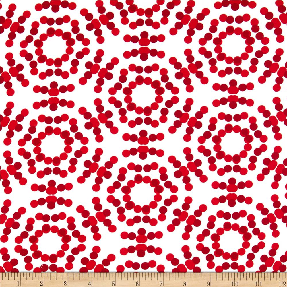 "108"" Spot On Quilt Backs Circle Dots Red"