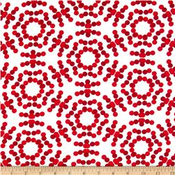 108'' Spot On Quilt Backs Circle Dots Red