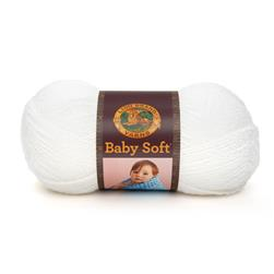Lion Brand Babysoft Yarn (200) White Pompadour