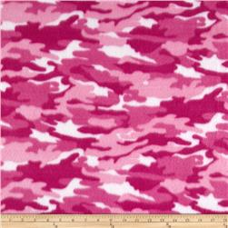 Fleece Print Camo Fucshia