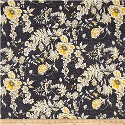 Venice Stretch ITY Knit Floral Print Black