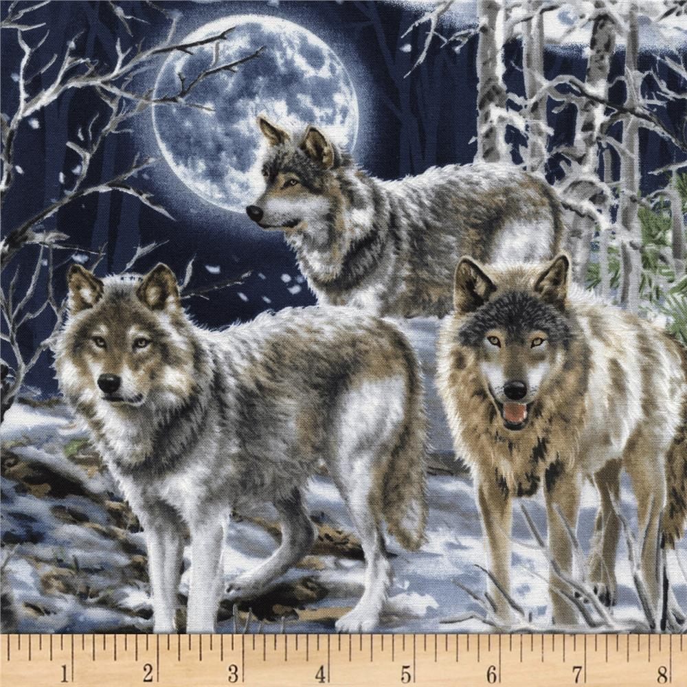 Timeless Treasures Wolves Wolf
