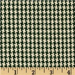 Houndstooth Flannel Green