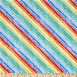 Timeless Treasures Bias Crayon Stripe Multi