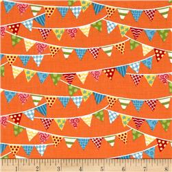 Moda Bloomin' Fresh Spring Banner Poppy Orange